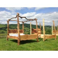 driftwood four poster tree bed ❤ king size, double, super king