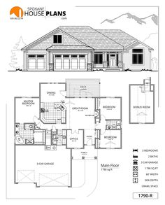 Home Interior Planning Projects. Intend to make your own home seem like new? Just want to enhance the attractiveness and sale ability of your house? It is easier and less costly than you might think. Best House Plans, Dream House Plans, Small House Plans, House Floor Plans, The Plan, How To Plan, Metal Building Homes, Building A House, Morton Building