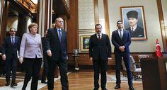 Bundeskanzlerin Angela Merkel und der türkische Präsident Recep Tayyip Erdogan in Ankara