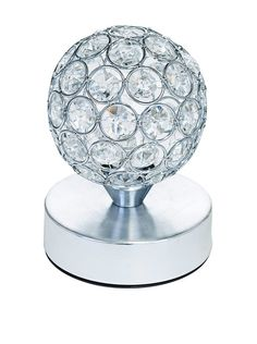 Illuminated Décor 1-Light Battery Operated LED Table Lamp With Crystals, Silver, http://www.myhabit.com/redirect/ref=qd_sw_dp_pi_li?url=http%3A%2F%2Fwww.myhabit.com%2Fdp%2FB00Z8B8AGW%3F