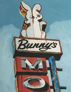 "Daily Paintworks - ""Bunnys Mo"" - Original Fine Art for Sale - © Sue Sneeringer"