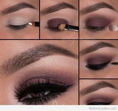 Wine burgundy eye makeup