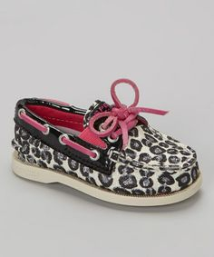 Look what I found on #zulily! Silver & Purple Shimmer Leopard Gore Boat Shoe by Sperry Top-Sider #zulilyfinds