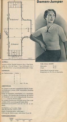 Anleitung: Damen-Jumper - Pullover der 30er Jahre