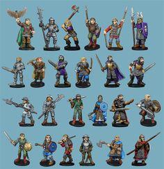 Mega Miniatures (Metal Magic) - Castle Guard - 24 pack - $40