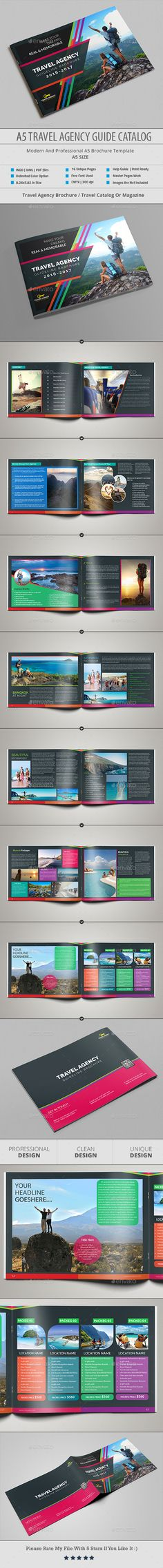 A5 Travel Agency Guide Catalog Template InDesign INDD
