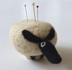 Felted Sheep Pincushion
