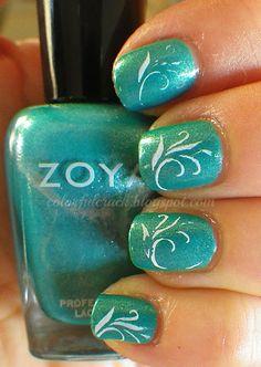 Stamping with Zoya Nail Polish in Zuza