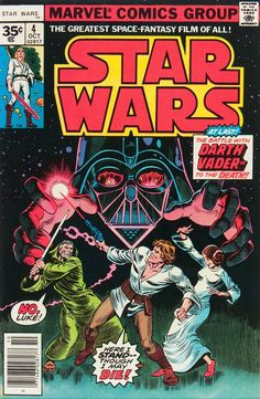 Star Wars comic book, Marvel, issue #4, 1977. Cover art by Howard Chaykin.
