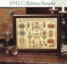 Rubbens darning sampler  - Sampler & Antique Needlework Quarterly   Volume #27 - Summer 2002