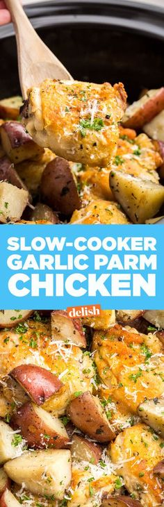 Slow-Cooker Garlic-Parmesan ChickenDelish
