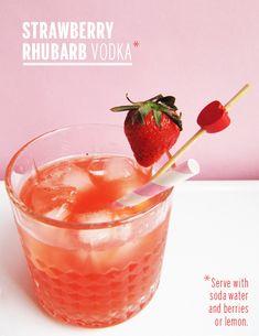 Strawberry Rhubarb Vodka // take a megabite