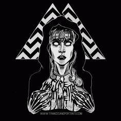 http://welcometotwinpeaks.com is excited to give away this brand new Twin Peaks inspired She's Filled With Secrets t-shirt by Stephanie Alice Rogers over at Trances and Portents.