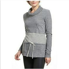 Anthropologie Striped Trio Cowl Neck Sweater Preworn, but excellent condition. Comfortable and stylish! Can be layered for colder days or on its own for fresh spring days. 100% cotton. Brand: Saturday Sunday.  Real photos to follow Anthropologie Sweaters Cowl & Turtlenecks
