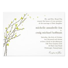 See MoreBlooming Branches Wedding Invitation - Lime Custom InvitesThis site is will advise you where to buy