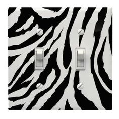 "Image Detail for - Switch Plate, Double , 5.5"" x 5 5/8"" Zebra print light switch cover ..."