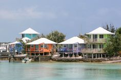 Cottages at Staniel Cay Yacht Club. These were so bright and happy. I loved them! Minus the nurse sharks swimming nearby. Lol