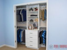 Woodworking Projects DIY Closet Organizer Shelves and Drawers Sideboards: Essential for Home Decor I Building Kitchen Cabinets, Diy Kitchen Cabinets, Base Cabinets, Diy Garage Shelves, Closet Shelves, Closet Drawers, How To Make Drawers, Diy Drawers, 6 Drawer Tall Dresser