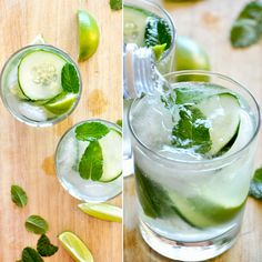 Cucumber Coolers Cocktails! Just 5 ingredients  - like a zesty mojito but better!