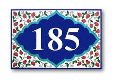 This Blueberries sign is as beautiful as it is functional. The ceramic sign, which is painted with over-glazed colors mixed with a special oil, is
