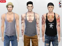The Sims Resource: Meat Head Muscle Tank Top by McLayneSims • Sims 4 Downloads