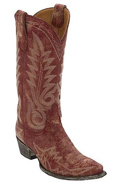 Old Gringo® Women's Nevada Destroyed Red Fancy Stitched Snip Toe Western Boots | Cavender's Boot City