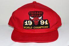 346c0d814360c Vintage Chicago Bulls 1991 NBA World by SouthsideThrowbacks  snapback  snap   hat  fashion