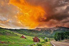 Sunset  #Telluride #Colorado #HotelMadelineTelluride #MountainVillage