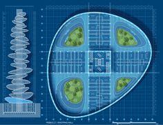 El arquitecto belga Vincent Callebaut es conocido por tomar temas de urbanismop y reformulación de ellos dentro de una visión ecologista.