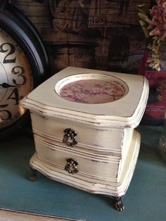 Shabby Chic Jewelry Box on Etsy, $32.00