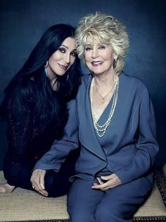 Cher, 68 and her mother Georgia Holt, 88!!! I wanna look this good when I'm their age!