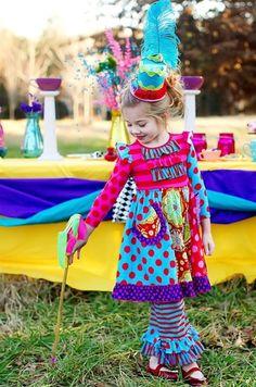 Mustard Pie Clothing - Scrappy Ramona Dress in Rainbow