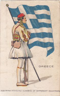 """NEBO CIGARETTES; 1914; STANDARD BEARERS DIFFERENT COUNTRIES """" GREECE """" 