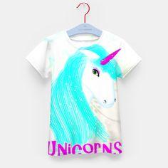 Whimsical Fantasy Unicorn Graphic Kid's T-shirt