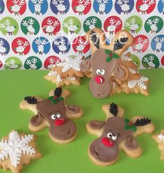 Reindeer made from upside down gingerbread men