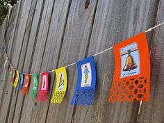 Mexican Loteria Wedding Garland Paper Fiesta Birthday by ChanceyCo, $15.00