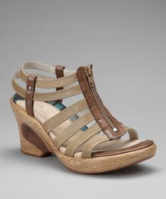 Take a look at this Taupe Myra Wedge Sandal by DROMEDARIS on #zulily today!
