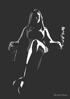 Dark Art Drawings, Sexy Drawings, Arte 8 Bits, White Art, Black And White, Digital Art Girl, Silhouette Art, Arte Pop, Pulp Art