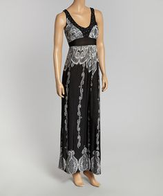 Take a look at this California Women Black & White Rhinestone Maxi Dress - Women on zulily today!  $16.99  /www.zulily.com/invite/vvartanian929