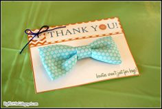 Big K Little G - DIY Bowtie Hairclip Party Favor for Buttons & Bowties Baby Shower
