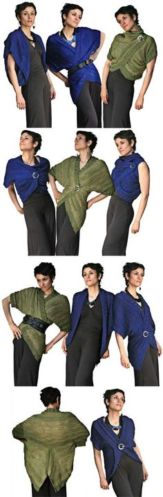 Knit Pattern - Endless Knitted Cardi Shawl