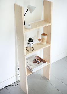 DIY Ladder Shelf for all your books, knick-knacks, and kinfolk magazines.