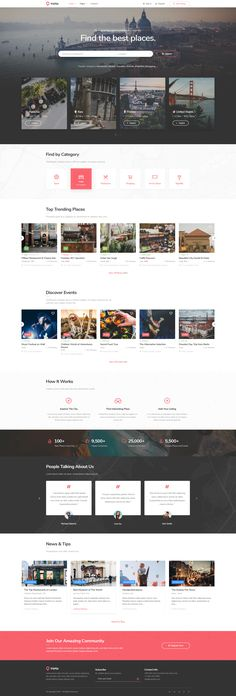 TripTip is Modern Clean a Directory & Listing PSD template for travel, hotel, restaurant. TripTip is