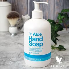 Aloe Hand & Face Soap - Aloe Hand Soap Your new favorite way to wash your hands. Aloe Hand Soap is infused with cucumber fru - Aloe Vera Gel Forever, Forever Living Aloe Vera, Forever Aloe, Face Soap, Body Soap, Theives Oil, Aloe Berry Nectar, Forever Freedom, Clean9
