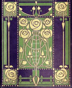 Art Nouveau book design Glasgow School (An original highly-stylized Art Nouveau design for a book binding, by leading Glasgow School...)