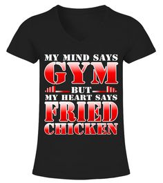 T-Shirt For Fried Chicken And Gym Lover b06b4f77f9d