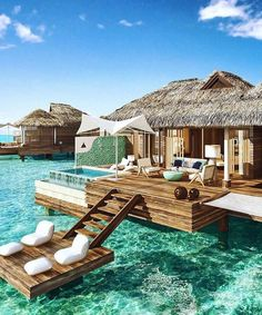 These Overwater Hotel Suites Are INSANE (& All-Inclusive!) travel destinations 2019 These overwater bungalows are giving us vacation GOALS Vacation Places, Vacation Destinations, Dream Vacations, Romantic Vacations, Romantic Travel, Vacation Ideas, Honeymoon Places, Dream Vacation Spots, Vacation
