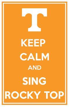 University of Tennessee Vols Keep Calm & Sing Rocky Top 11x17 Print via Etsy