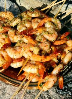 Grillade chiliräkor Seafood Recipes, Cooking Recipes, Shrimp Dishes, Eat To Live, Fish And Seafood, Tasty Dishes, Soul Food, Asian Recipes, Tapas