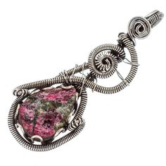 """Rough Russian Eudialyte 925 Sterling Silver Pendant 2"""" PD566151"""